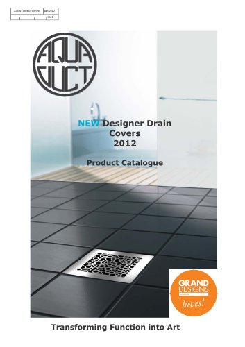 designer drain covers brochure PDF