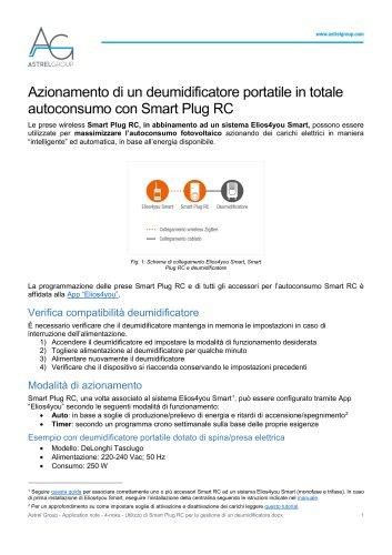 Astrel Group - Application note - 4-noks - Utilizzo di Smart Plug RC per la gestione di un deumidificatore