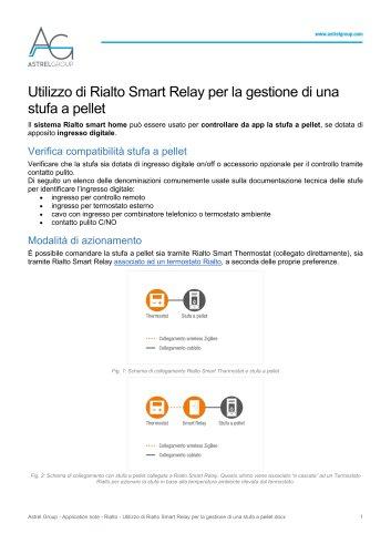 Astrel Group - Application note - Rialto - Utilizzo di Rialto Smart Relay per la gestione di una stufa a pellet
