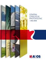 General catalogue Photovoltaic
