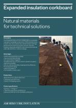 Expanded insulation corkboard