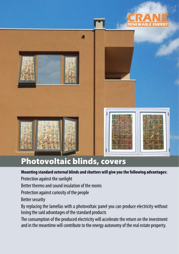 Photovoltaic blinds, covers