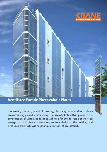 Ventilated Facade Photovoltaic Plates