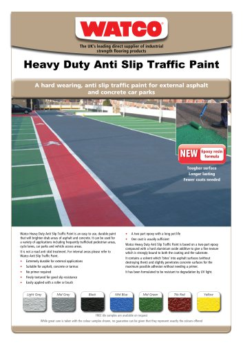 Heavy Duty Anti Slip Traffic Paint