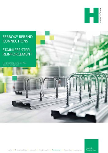 FERBOX® REVERSE BENDING CONNECTOR & STAINLESS STEEL REINFORCEMENT