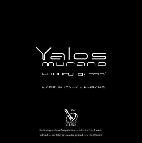 Yalos murano luxury glass