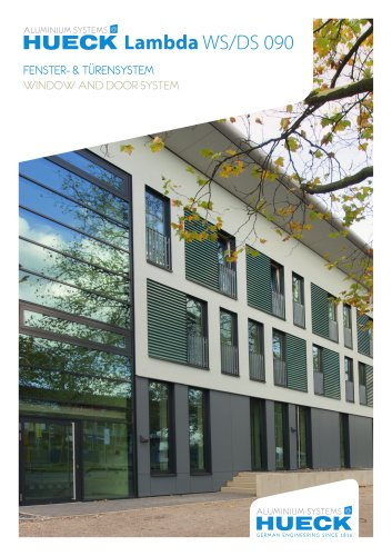 HUECK Lambda WS/DS 090 - Window and Door System