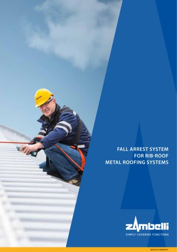 FALL ARREST SYSTEM FOR RIB-ROOF METAL ROOFING SYSTEMS