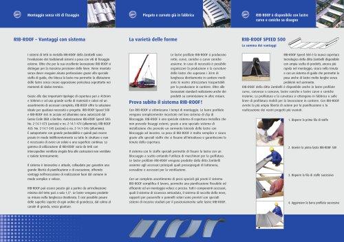 Flyer RIB-ROOF Il Sistema di Copertura Metallico