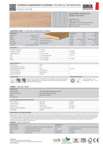 COSWICK HARDWOOD FLOORING Product # 1122-1509