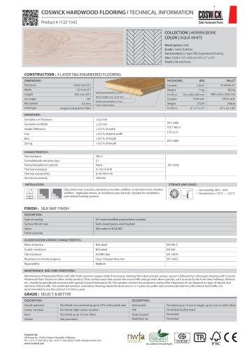 COSWICK HARDWOOD FLOORING Product # 1122-1542