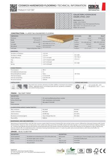 COSWICK HARDWOOD FLOORING Product # 1122-1567