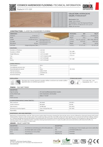 COSWICK HARDWOOD FLOORING Product # 1171-1531