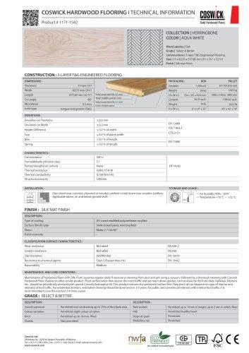 COSWICK HARDWOOD FLOORING Product # 1171-1542