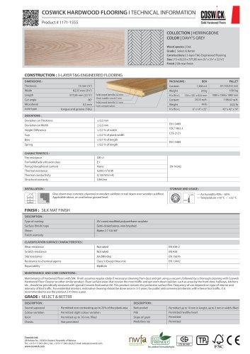 COSWICK HARDWOOD FLOORING Product # 1171-1555