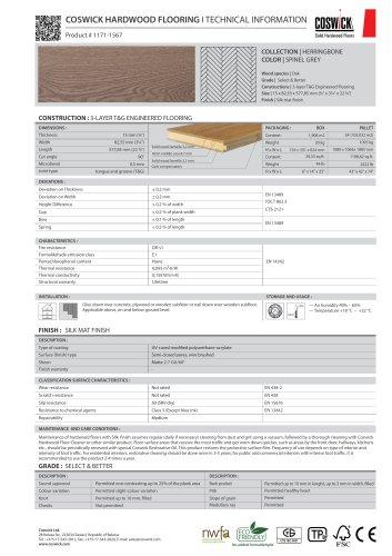 COSWICK HARDWOOD FLOORING Product # 1171-1567