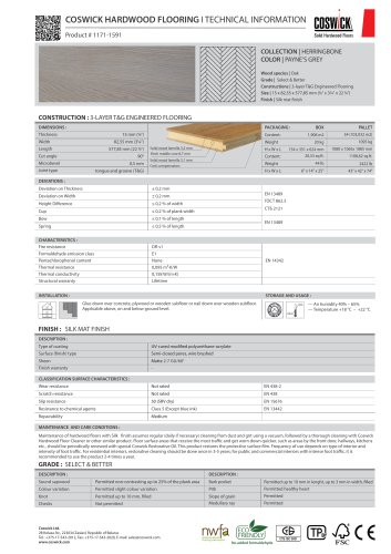 COSWICK HARDWOOD FLOORING Product # 1171-1591