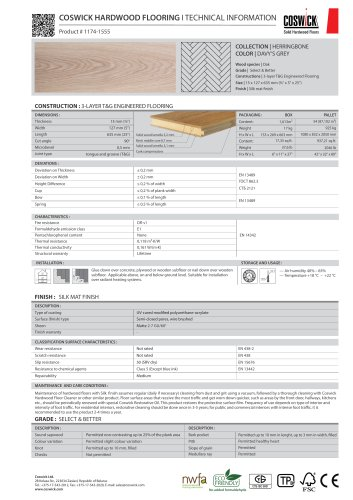 COSWICK HARDWOOD FLOORING Product # 1174-1555