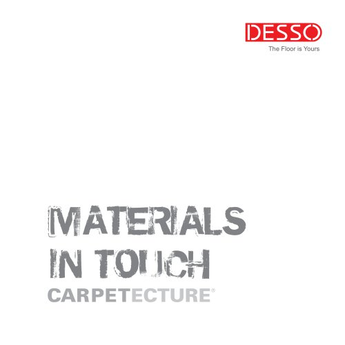 Desso Materials in Touch Brochure