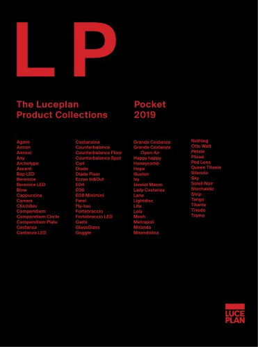 The Luceplan Pocket Product Collections 2019