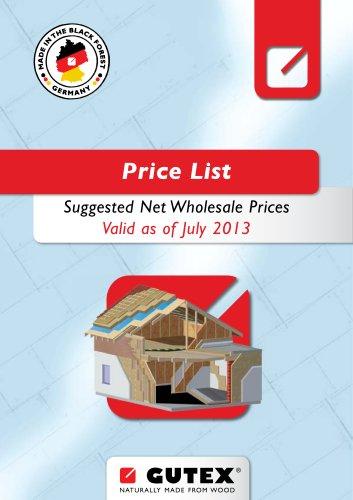 GUTEX Price List 2013