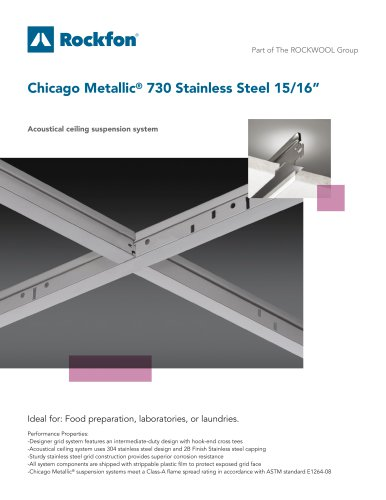 "Chicago Metallic® 730 Stainless Steel 15/16"""