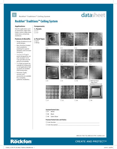 Rockfon® Traditions™ Ceiling System