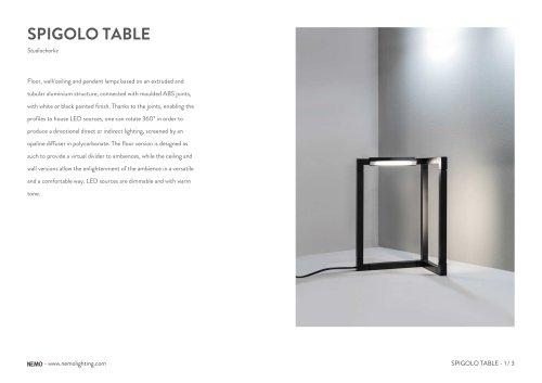 SPIGOLO TABLE