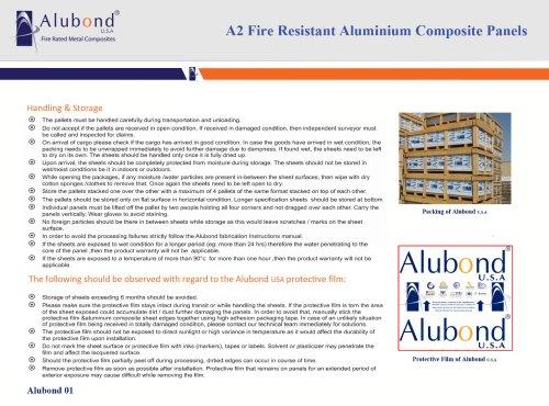 Alubond U.S.A A2 - Fire Resistant ACP Handling & Storage