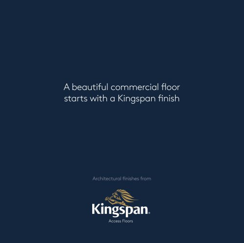 A beautiful commercial floor starts with a Kingspan finish