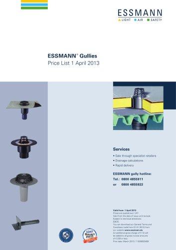 Pricelist Gullies 1 April 2013