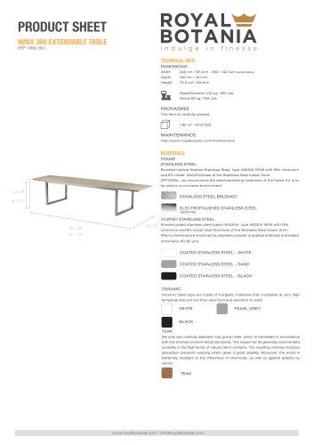 NINIX 360 EXTENDABLE TABLE