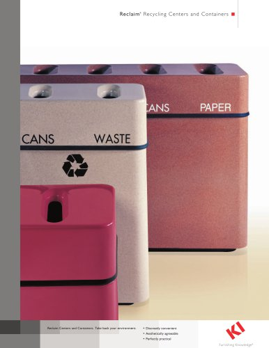 RECLAIM RECYCLING CONTAINERS CENTERS
