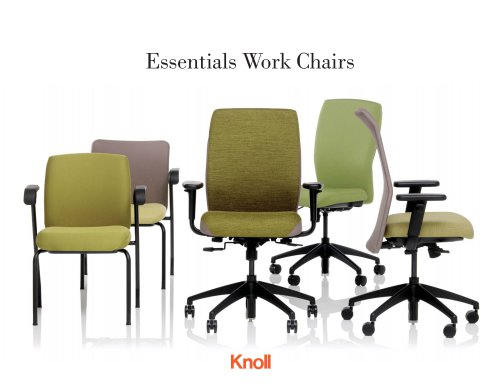 Essentials Work Chairs Brochure