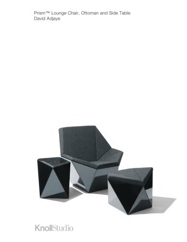Prism™ Lounge Chair, Ottoman and Side Table David Adjaye